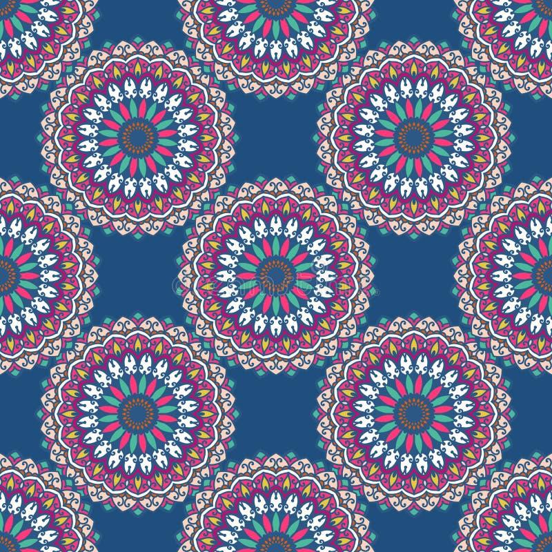 Вручите вычерченную предпосылку с декоративными элементами в розовых и голубых цветах бесплатная иллюстрация