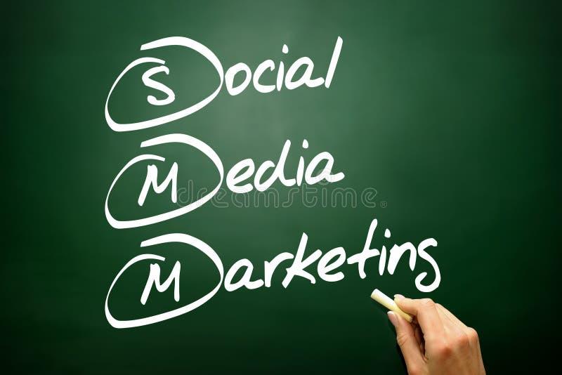 Вручите вычерченные социальные средства массовой информации выходя концепцию вышед на рынок на рынок, стратегию бизнеса дальше стоковые фото