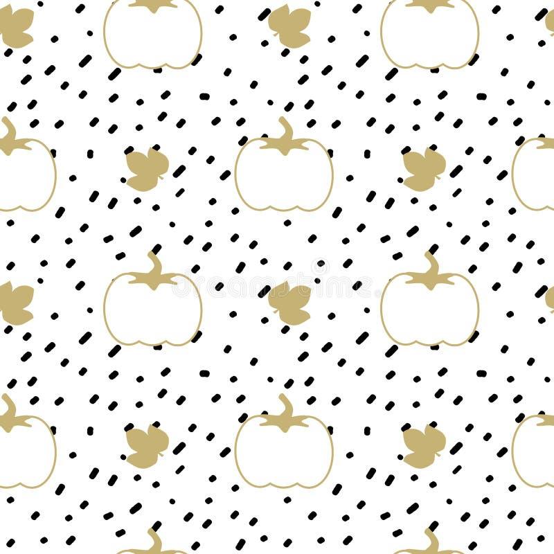 Вручите вычерченный черный confetti на иллюстрации картины вектора белой предпосылки простой абстрактной безшовной с белизной и т бесплатная иллюстрация