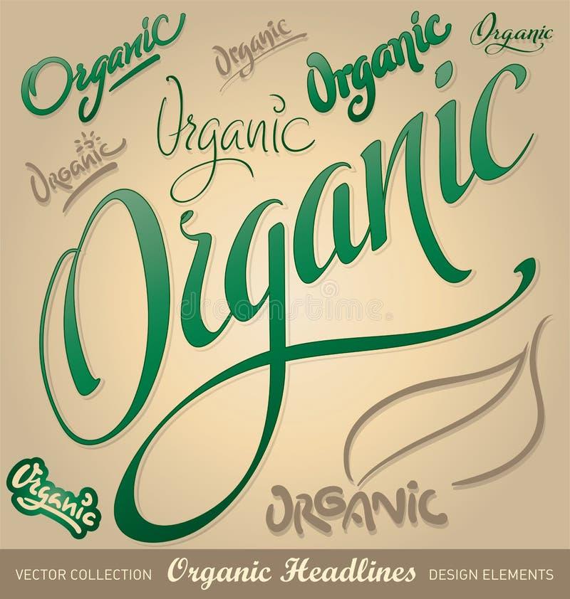 вручите главные линии помечая буквами органический вектор комплекта бесплатная иллюстрация