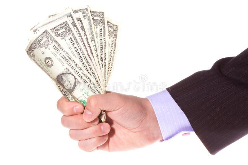 вручите деньги удерживания стоковое изображение rf
