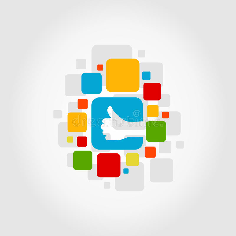 Download Вручите квадрат иллюстрация вектора. иллюстрации насчитывающей социально - 33736532