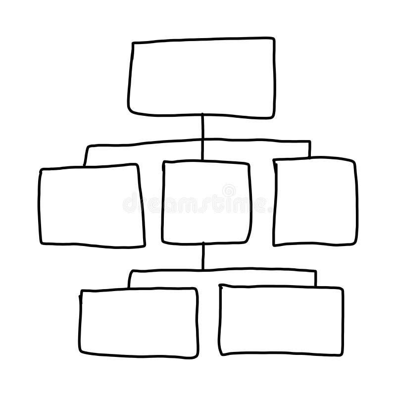 Вручите нарисованный пустой геометрии концепции дела иллюстрация вектора