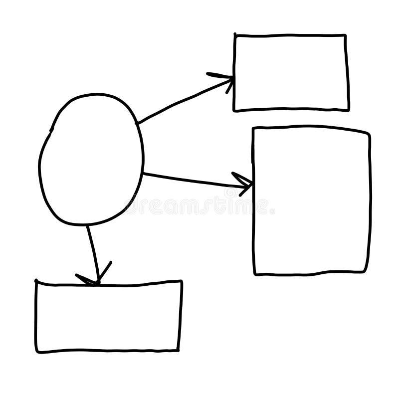 Вручите нарисованный пустой геометрии концепции дела бесплатная иллюстрация