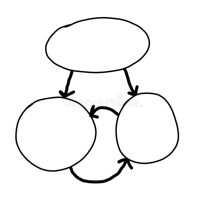 Вручите нарисованный пустой геометрии концепции дела иллюстрация штока