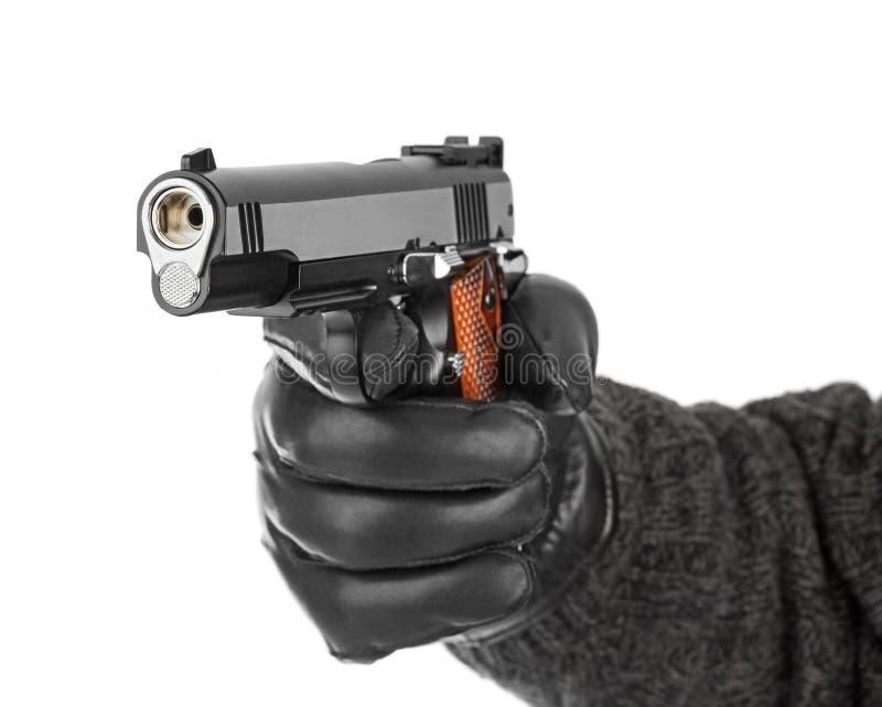 вручите пистолет стоковые фото