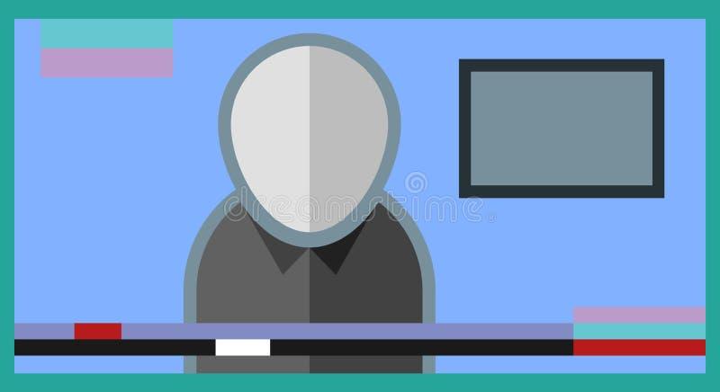 Вручитель новостей плоский иллюстрация вектора