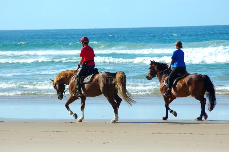 всадники пляжа стоковое изображение rf