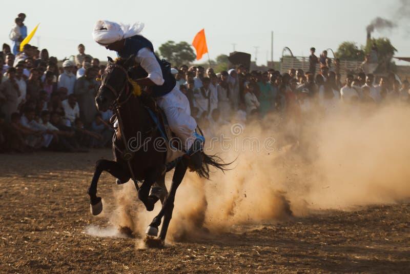 Всадник лошади, ехать в шатре прикрепляя событие стоковое изображение rf