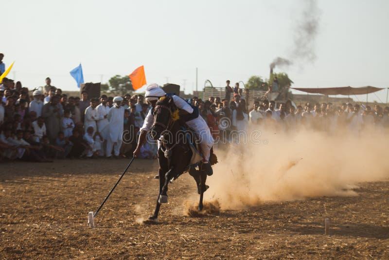 Всадник лошади, ехать в шатре прикрепляя событие стоковые фото