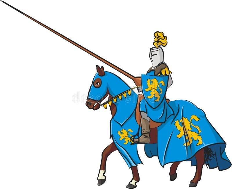 Всадник рыцаря иллюстрация штока