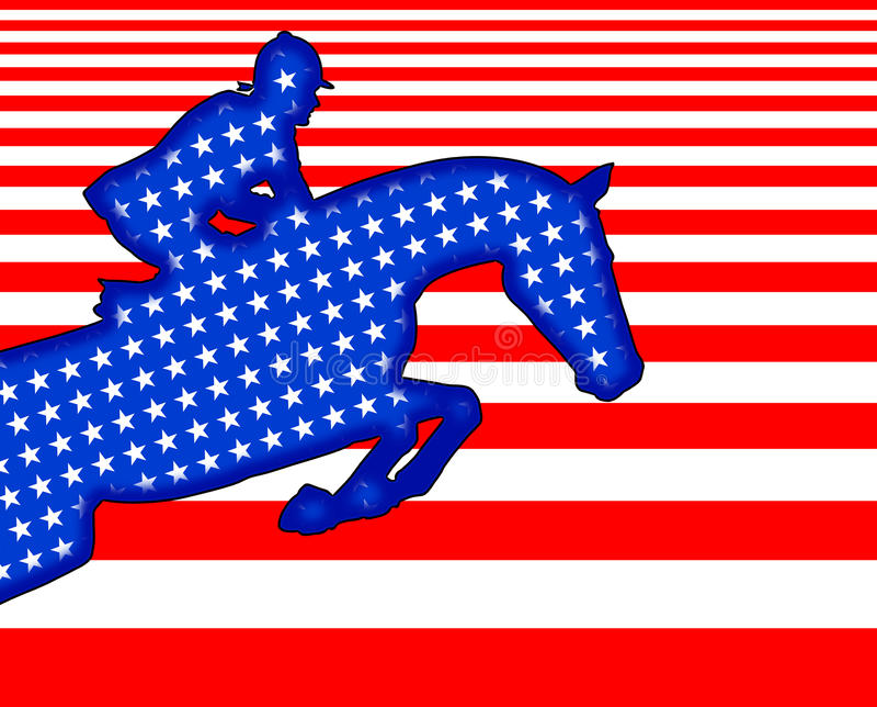 всадник s u флага стоковые изображения rf