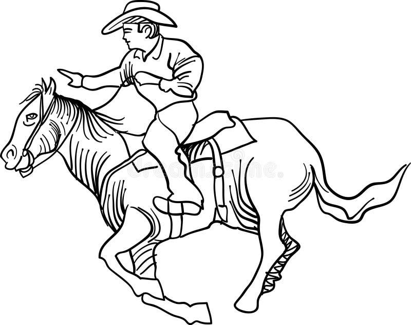 Всадник лошади иллюстрация вектора