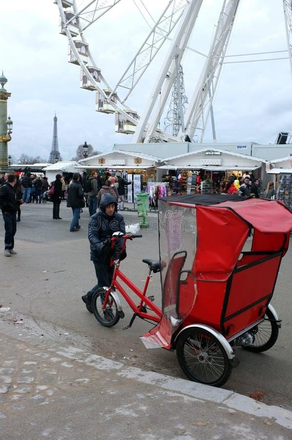 Всадник рикши стоковая фотография rf
