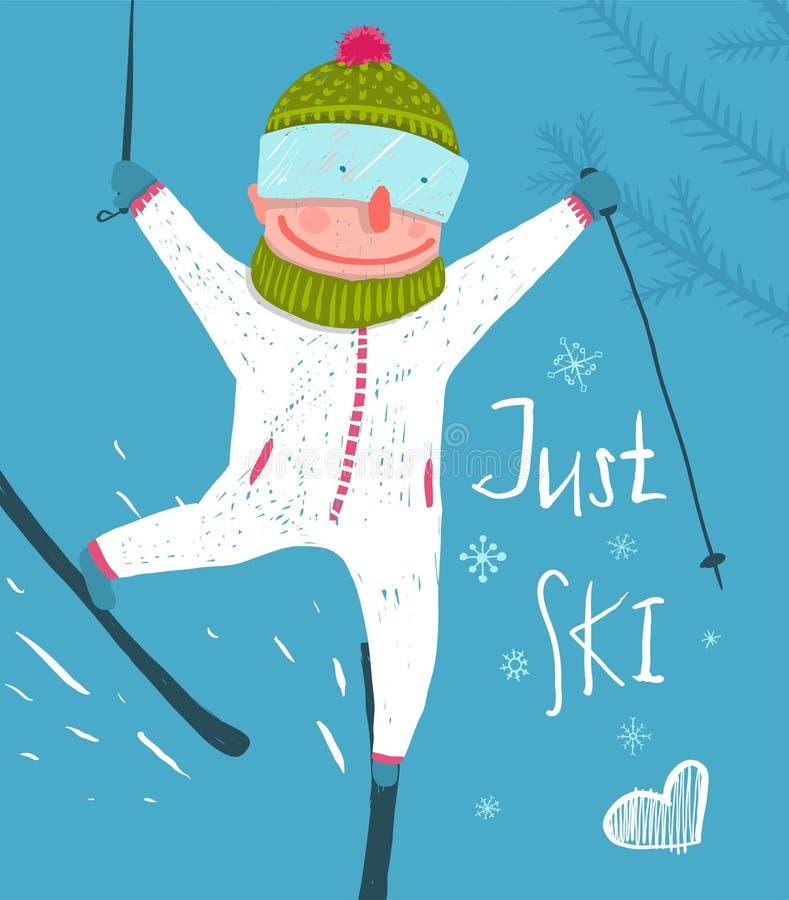 Открытка для лыжника с днем рождения