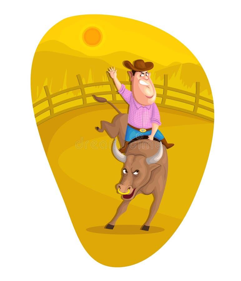 Всадник Bull бесплатная иллюстрация