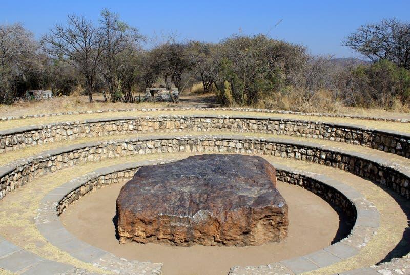 всегда ый метеорит hoba самый большой стоковая фотография rf