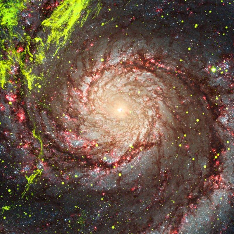 Вселенная заполненная со звездами, межзвёздным облаком и галактикой иллюстрация вектора