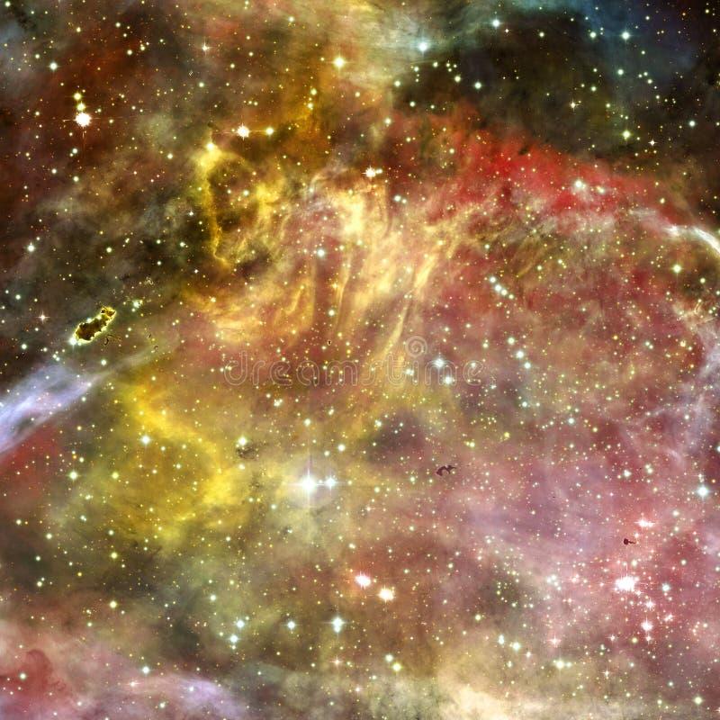 Вселенная заполненная со звездами, межзвёздным облаком и галактикой стоковые фото
