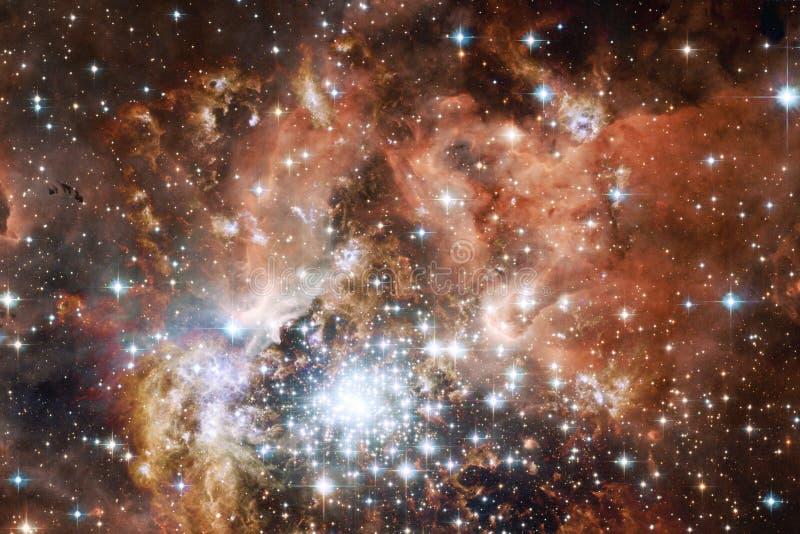 Вселенная заполнила звезды, межзвёздное облако и галактику Космическое искусство, обои научной фантастики иллюстрация вектора