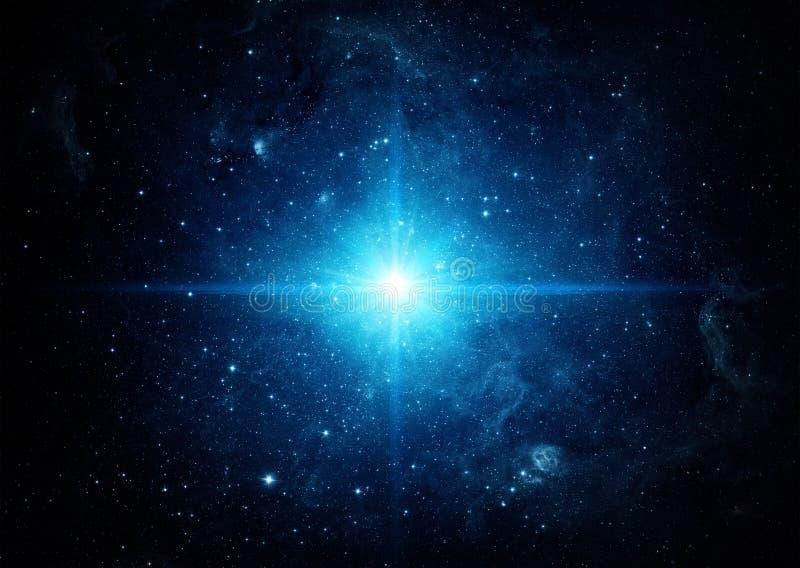 Вселенный заполнила с звездами Предпосылка космоса стоковое изображение rf