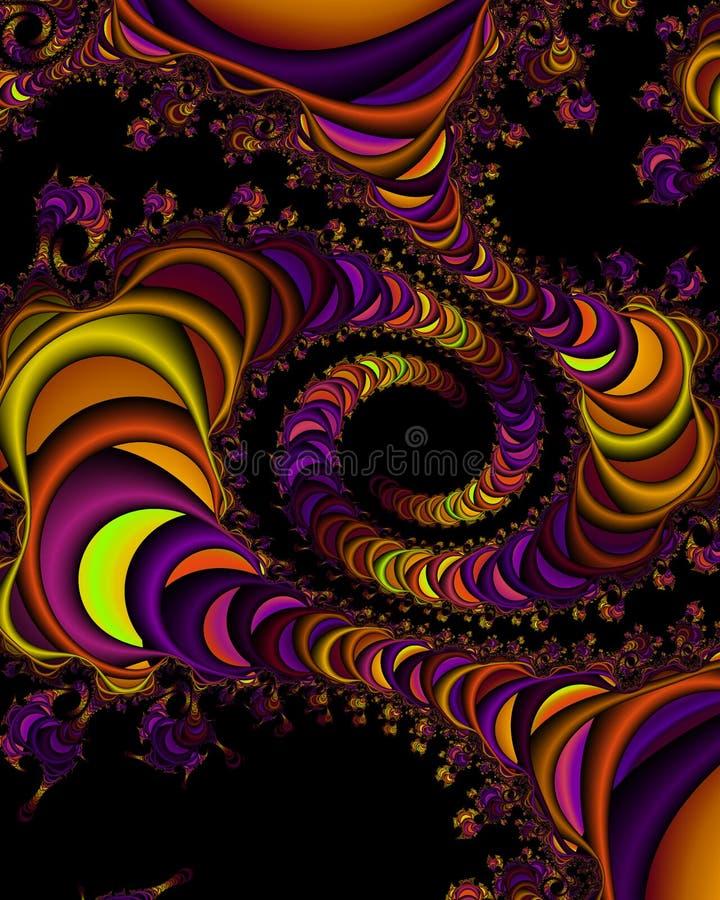 вселенный фрактали иллюстрация вектора