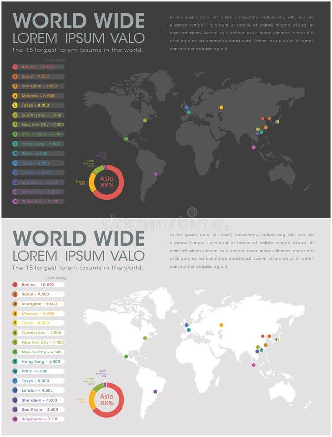 Всемирное Infographic иллюстрация штока