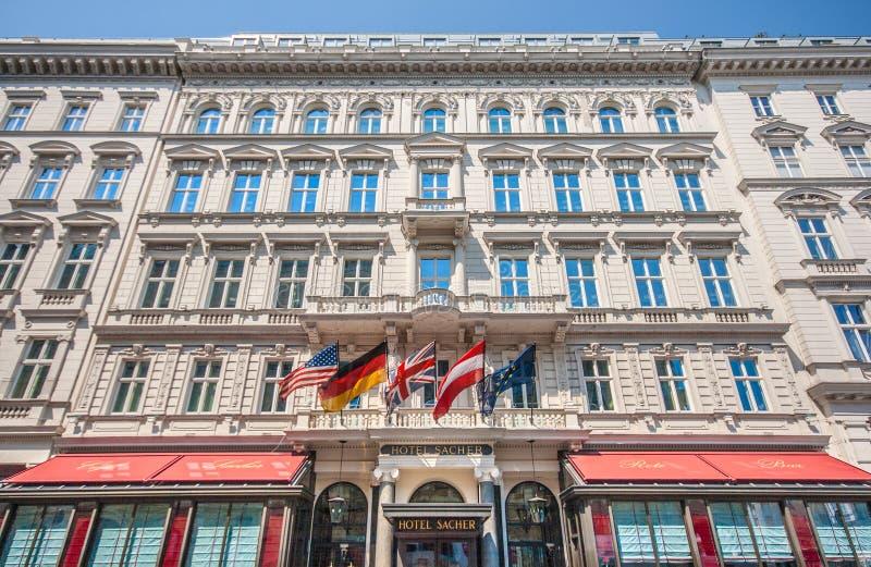 Всемирно известная гостиница Sacher в Вене, Австрии стоковая фотография