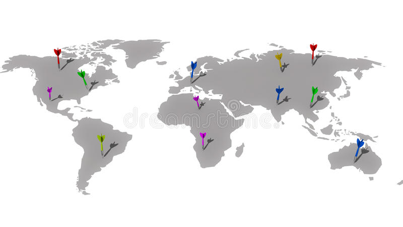 Всемирные цели иллюстрация вектора