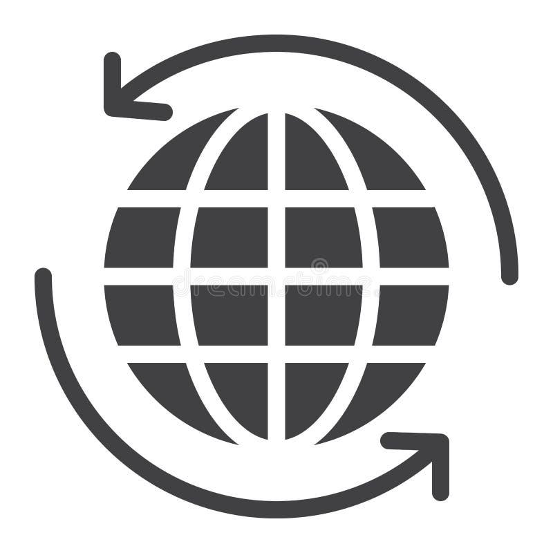 Всемирный вектор значка доставки иллюстрация вектора