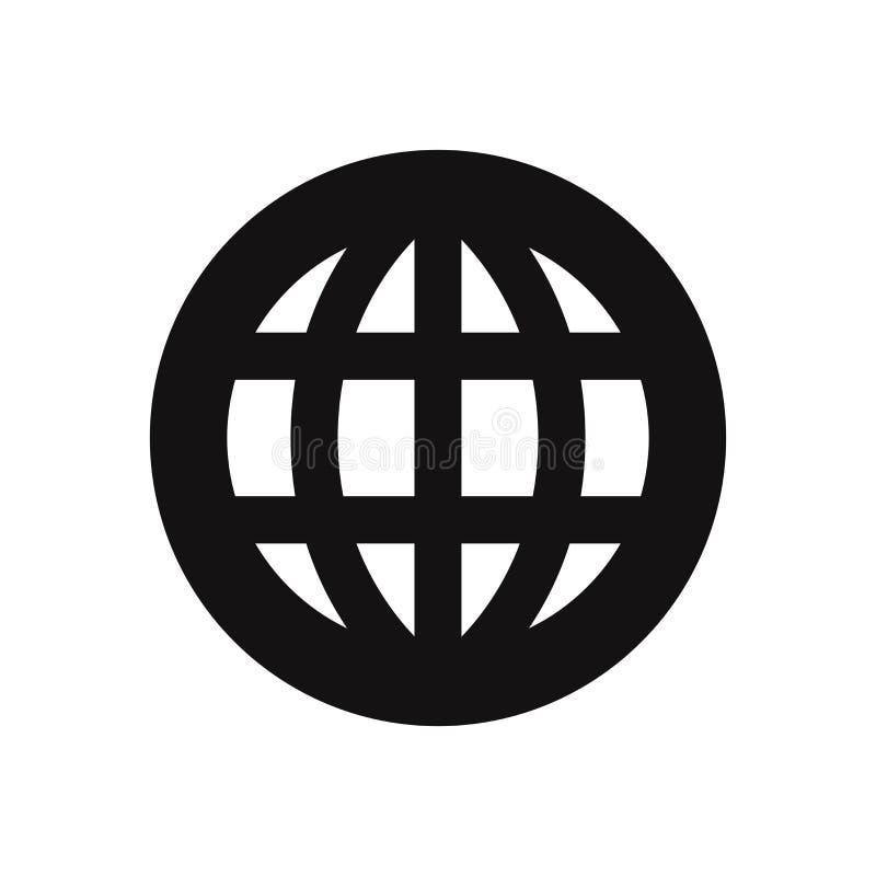 Всемирный значок вектора Всемирно, символ сети для дизайна бесплатная иллюстрация