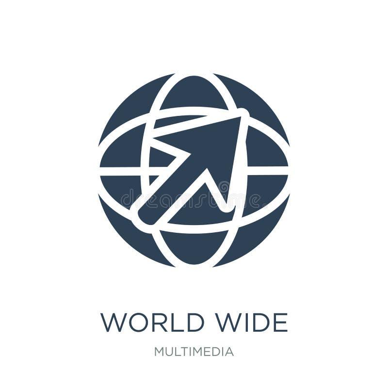 всемирный значок в ультрамодном стиле дизайна всемирный значок изолированный на белой предпосылке всемирный значок вектора просто бесплатная иллюстрация