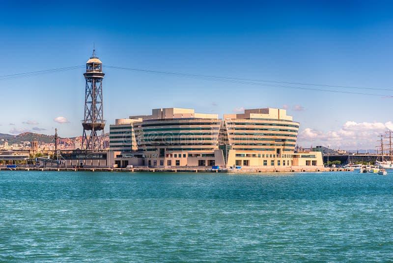 Всемирный торговый центр и Jaume i возвышаются, Барселона, Каталония, Spai стоковое изображение rf