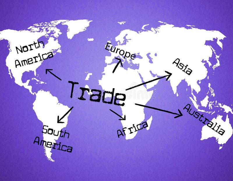 Всемирн Торговать Представлять Покупать Корпорация и электронная коммерция иллюстрация штока
