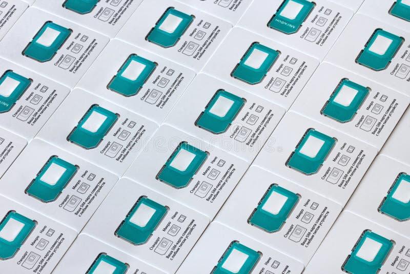 Всеобщие карточки SIM стоковая фотография
