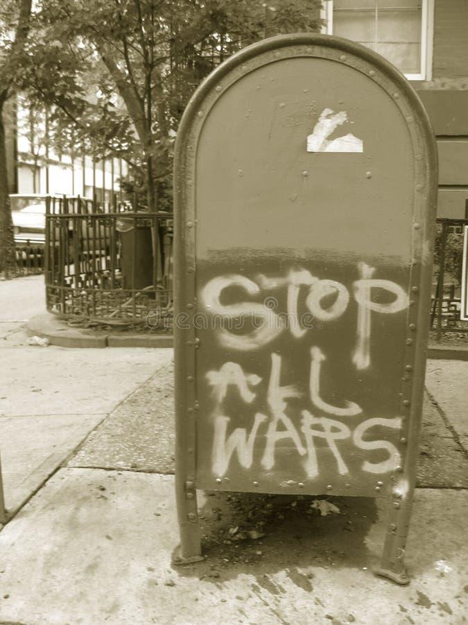 все войны стопа знака стоковая фотография