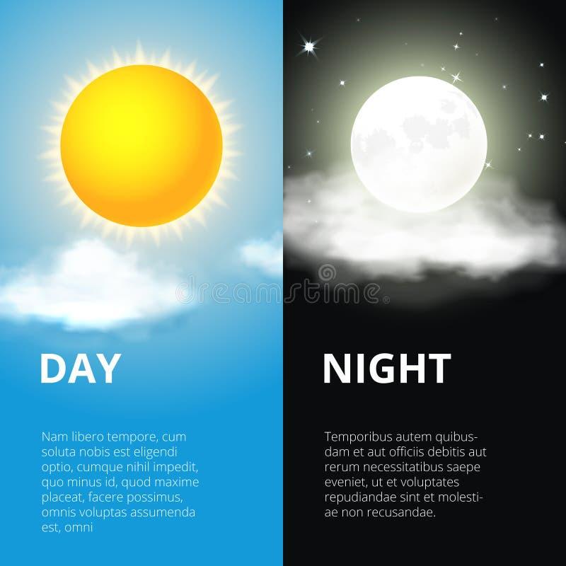 Все время, луна солнца иллюстрация штока