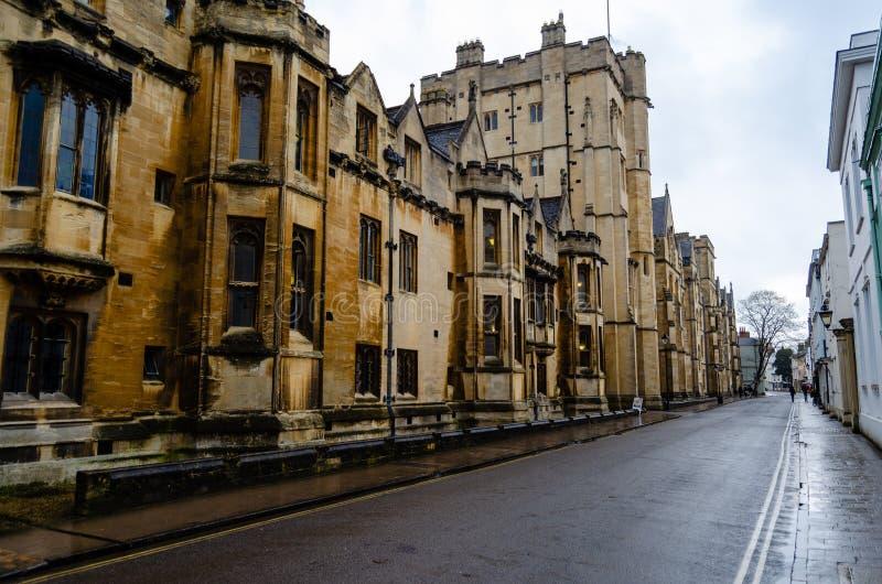 Все души коллеж, Оксфордшир, Великобритания, Европа стоковые изображения rf