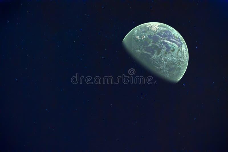 Вселенная заполненная с звездами и планетой стоковые фотографии rf