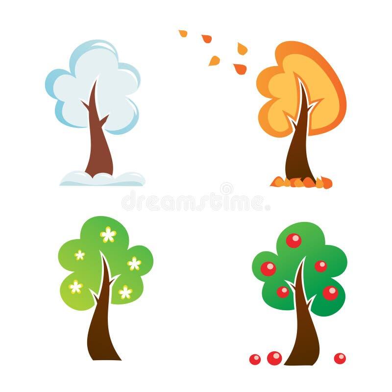 Все значки дерева сезона бесплатная иллюстрация
