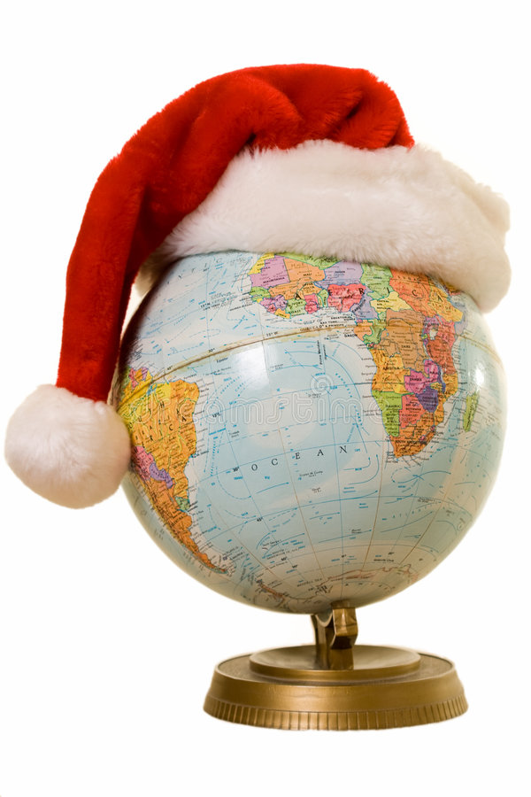 все рождество над миром стоковая фотография rf