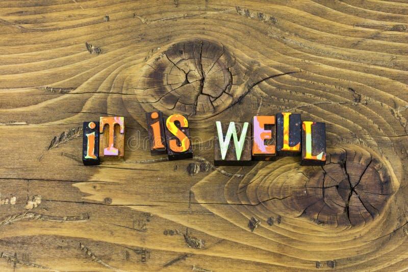 Все хорошо счастливая хорошая печать оформления положительной ориентации полная иллюстрация штока