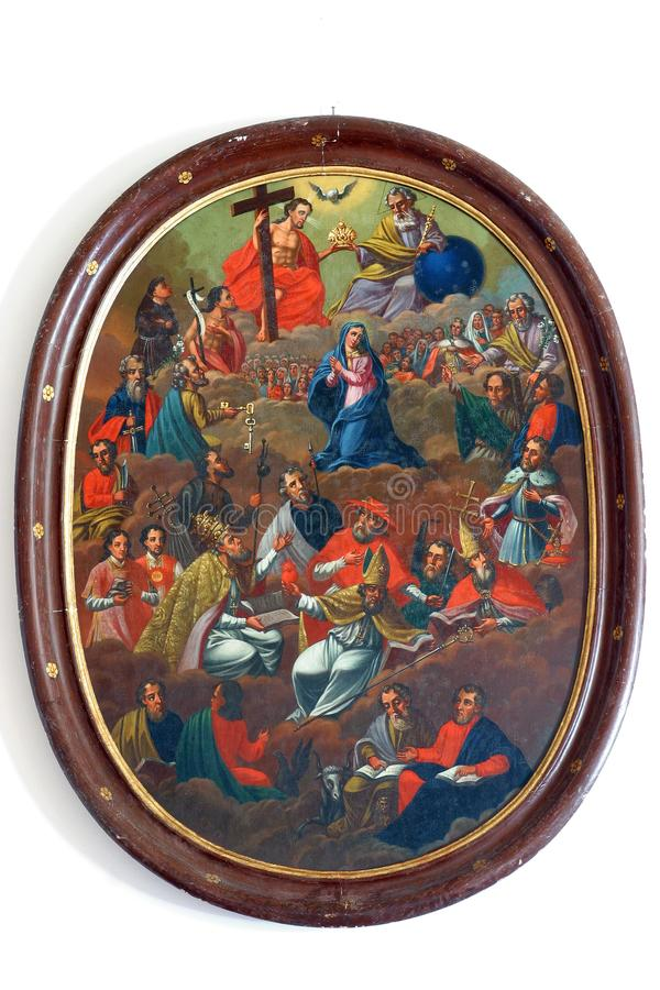 все saints стоковое изображение rf