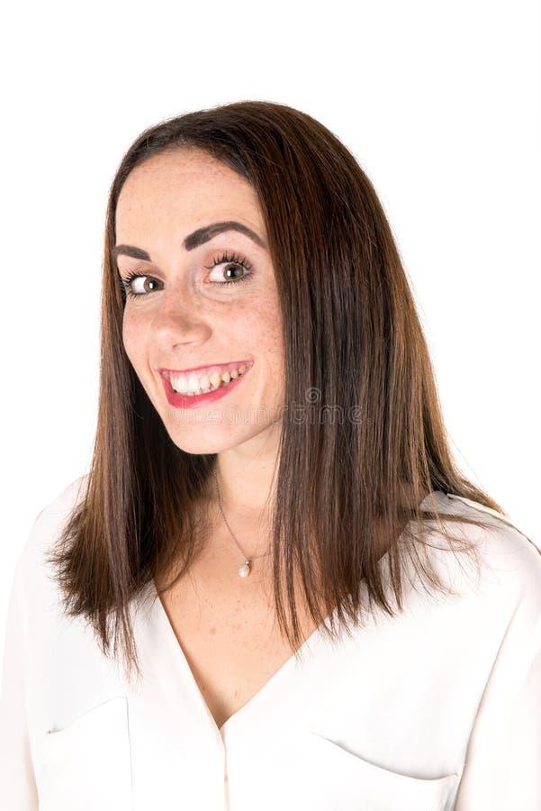 Вскользь женщина с веснушками стоковые изображения rf