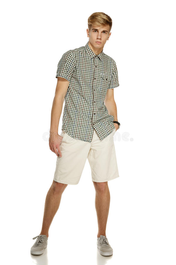 Вскользь одетьнный человек в полнометражном стоковые изображения rf