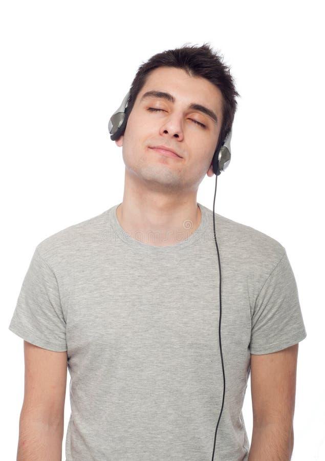 вскользь слушая нот человека стоковая фотография