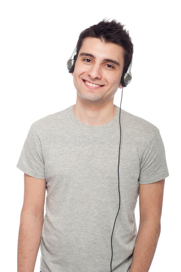 Download вскользь слушая нот человека Стоковое Изображение - изображение насчитывающей насладитесь, те: 18383679
