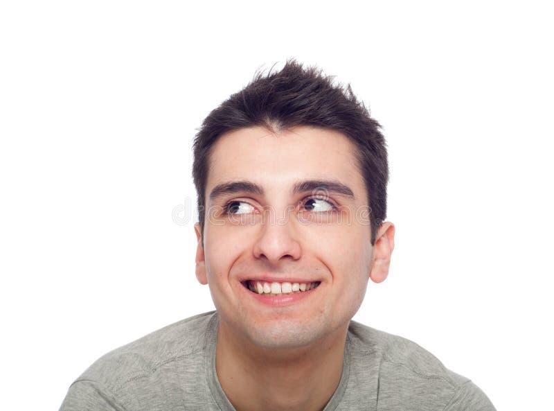 вскользь смотря человек вверх стоковое изображение rf