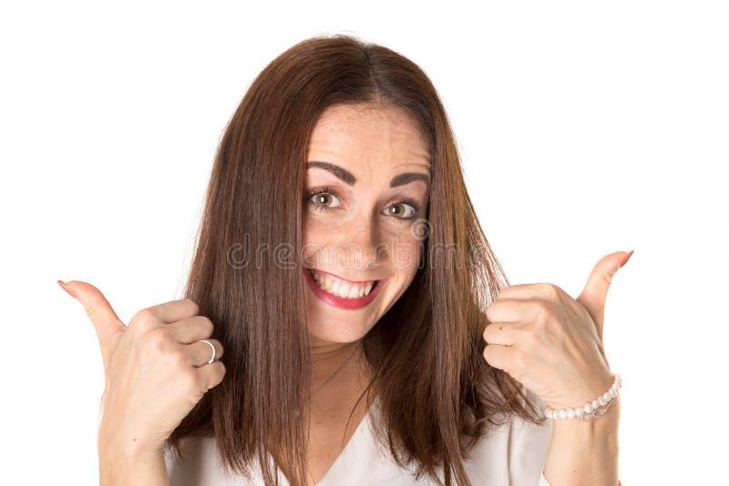 вскользь счастливая женщина стоковое фото rf