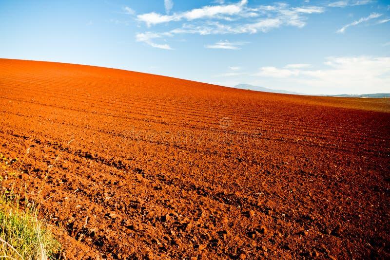 Вспаханные аграрные поля стоковое фото